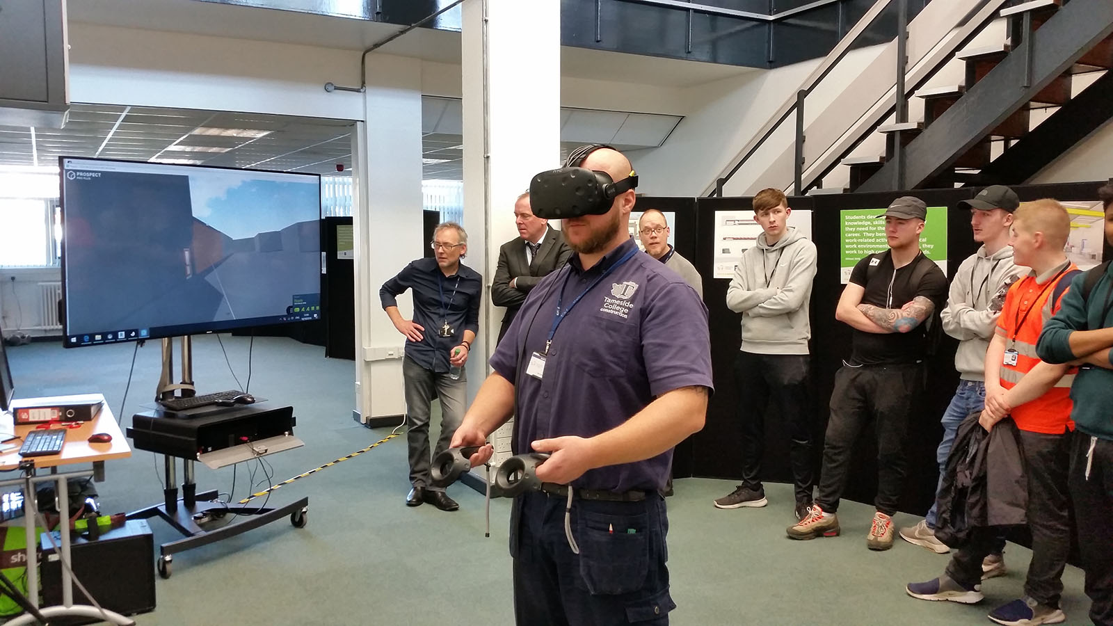 VR engagement with students at Tameside College